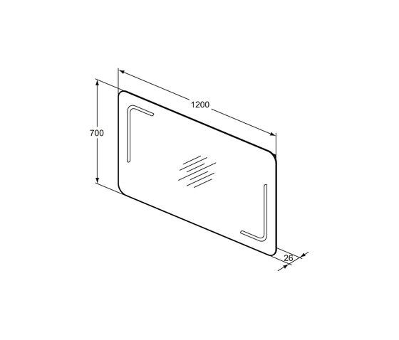 Mirror & Light Spiegel 1200 mm mit Beleuchtung (63 W) by Ideal Standard | Wall mirrors