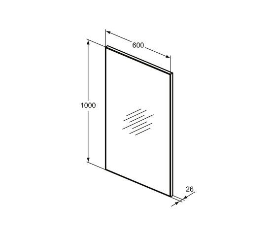 Mirror & Light Spiegel mit Rahmen 600 x 1000 mm by Ideal Standard   Wall mirrors
