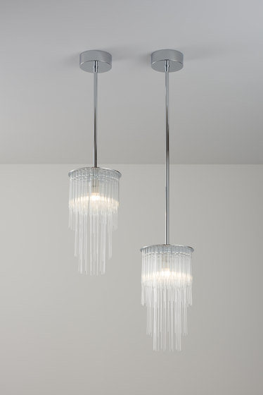GS Pendant polished chrome by Tom Kirk Lighting | Suspended lights
