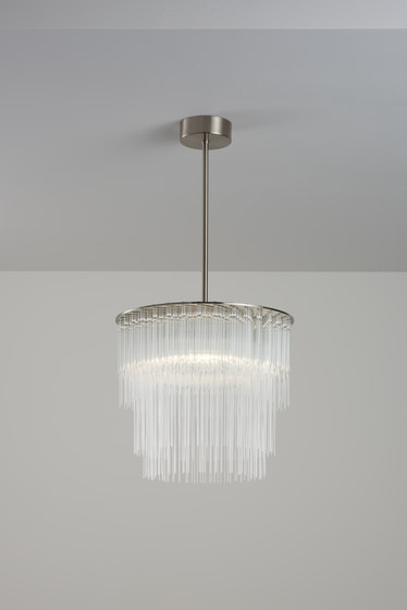 GS Pendant 300 brushed nickel by Tom Kirk Lighting | Chandeliers