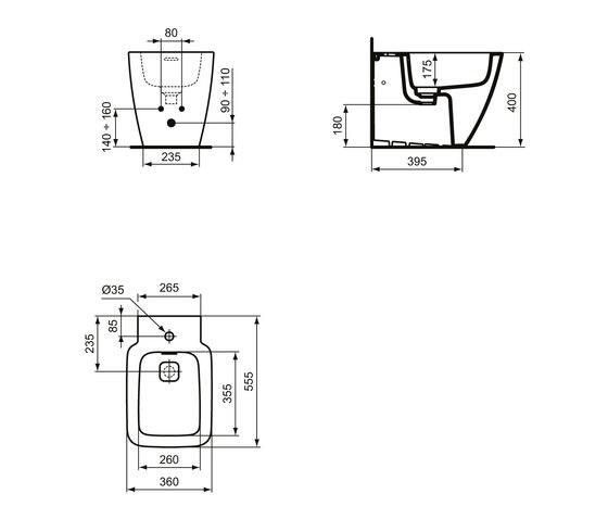 Strada II Standbidet by Ideal Standard | Bidets