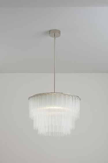 GS Pendant 400 polished nickel by Tom Kirk Lighting | Ceiling suspended chandeliers