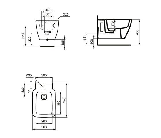 Strada II Wandbidet by Ideal Standard | Bidets