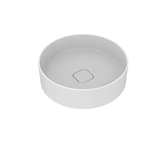 Strada II Aufsatzwaschtisch rund Ø450 mm, ohne Überlauf, ohne Hahnloch by Ideal Standard | Wash basins