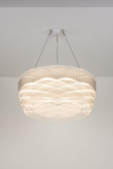 Ring Chandelier 750mm powdercoated by Tom Kirk Lighting | Ceiling suspended chandeliers