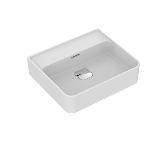 Strada II Waschtisch 500 mm, ohne Hahnloch, Unterseite geschliffen by Ideal Standard | Wash basins