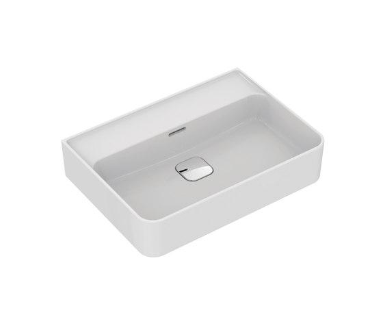 Strada II Waschtisch 600 mm, ohne Hahnloch, Unterseite geschliffen by Ideal Standard | Wash basins