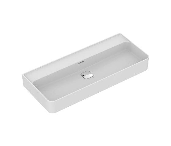 Strada II Waschtisch 1000 mm, ohne Hahnloch, Unterseite geschliffen by Ideal Standard | Wash basins