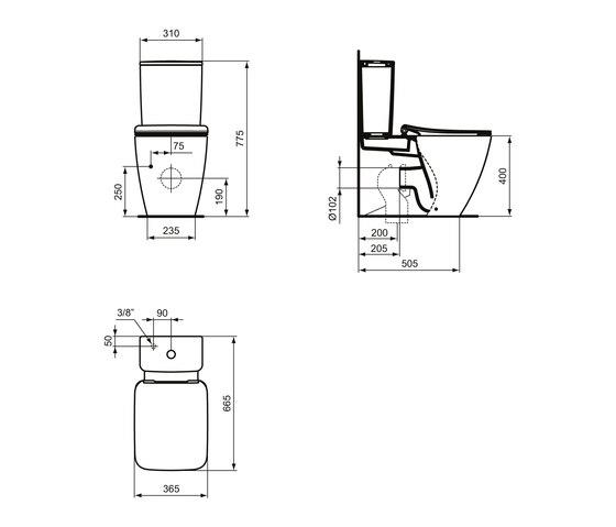 Strada II Standtiefspül-WC Kombination AquaBlade by Ideal Standard | Toilets
