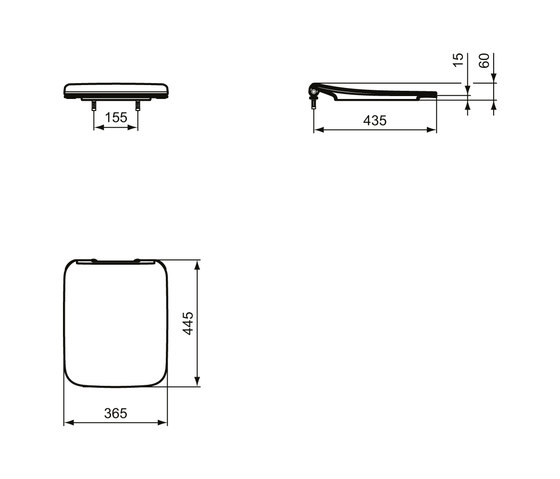 Strada II WC-Sitz (Sandwich) by Ideal Standard | WC