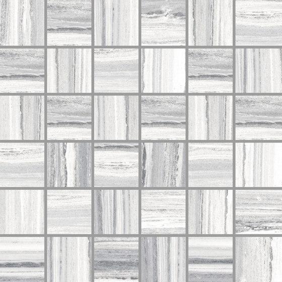 Palissandro Light Grey | Mosaico de Rondine | Mosaicos de cerámica