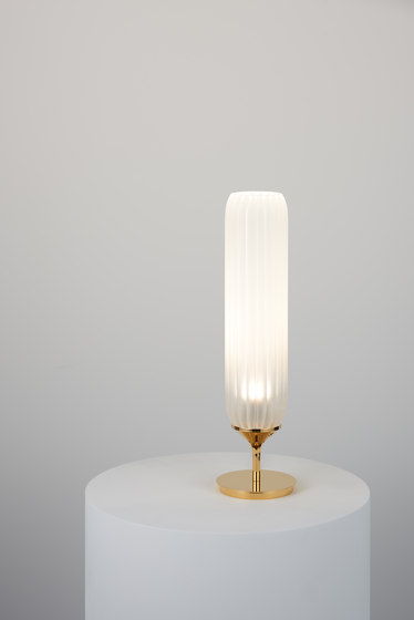 Pod Table Light polished gold by Tom Kirk Lighting | Table lights