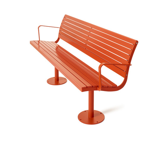 Parco backed benche by nola | Benches
