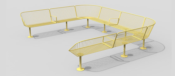 Korg modular backed bench by nola | Benches