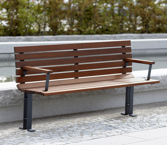 Kajen backed bench by nola | Benches