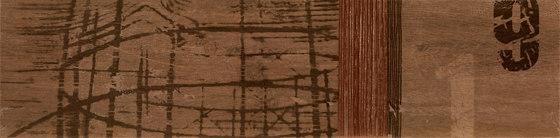 Tabula Cappuccino | Tracce Marron Listone de Rondine | Baldosas de cerámica