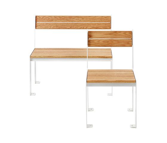 LowHigh bench and chair de nola | Sillas