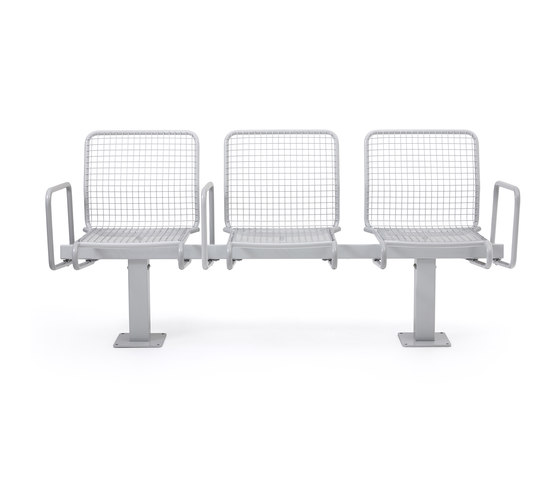 Solliden backed bench by nola | Benches