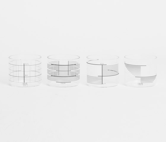 0,2L Glass Mix of 4 de tre product   Vasos
