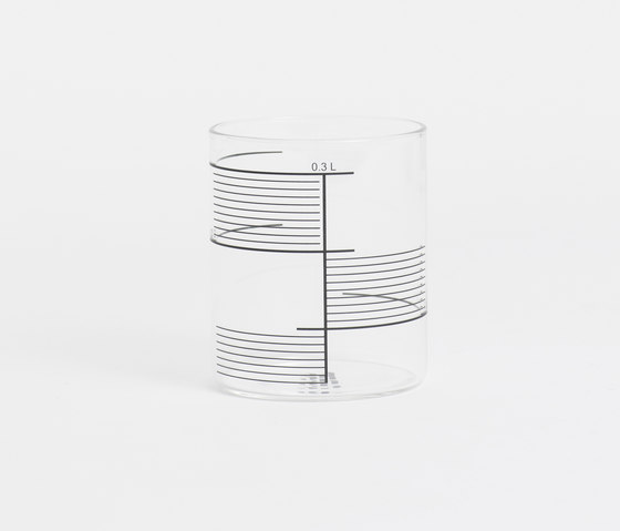 0,3L GLASS SQUARE STRIPES - Glasses from tre product