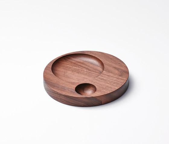 Moln Tray Small American Walnut de tre product | Bandejas