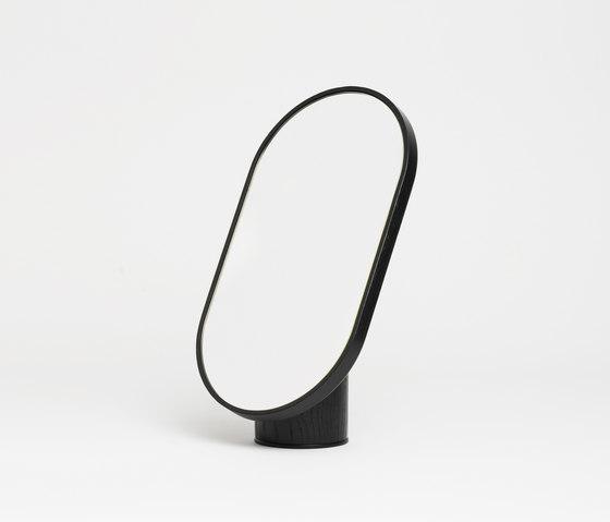 Woodturn Mirror Black by tre product | Bath mirrors