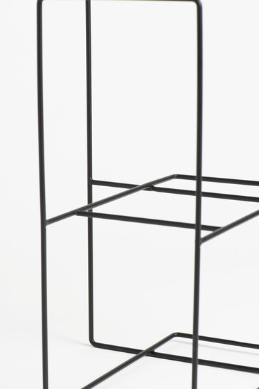 Rewire Magazine Rack Big Black by tre product | Shelving