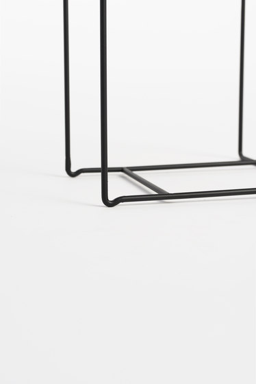Rewire Magazine Rack Medium Black by tre product | Shelving