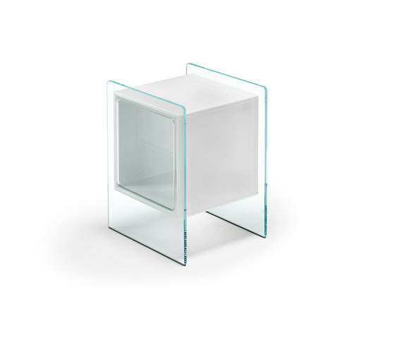 MAGIQUE CUBO bedside table by Fiam Italia | Side tables
