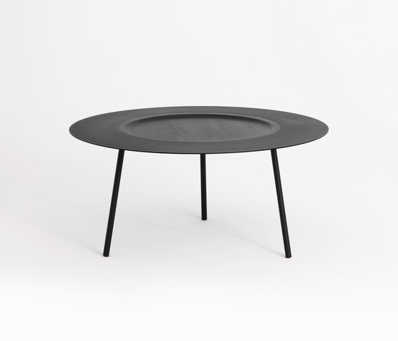 Woodplate Coffee Table Big Black by tre product | Coffee tables