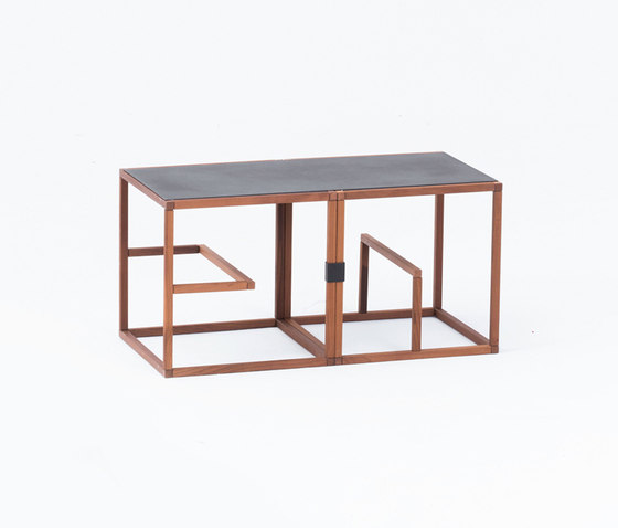 Text Block Wood Thermo Beech Double Set by tre product | Shelving