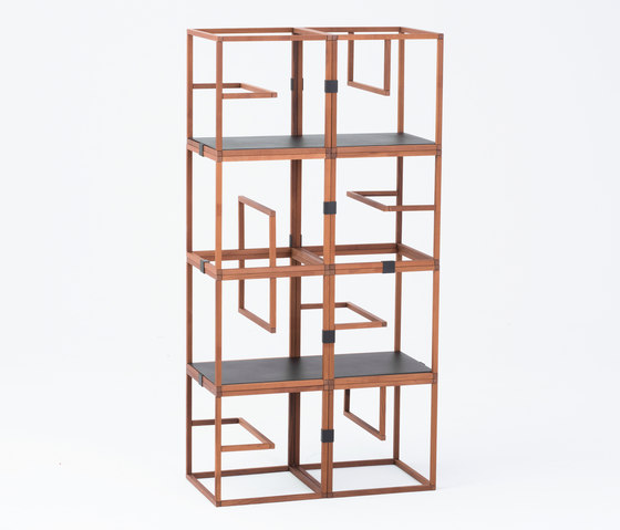 Text Block Wood Thermo Beech x8 Set by tre product | Shelving
