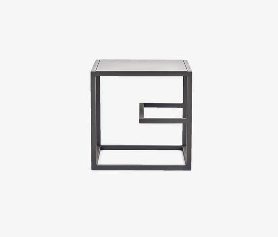 Text Block Metal Black Single Set by tre product | Shelving