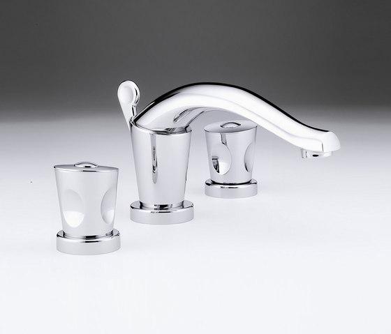 Bagatelle   Rim mounted 3-hole basin mixer by THG Paris   Wash basin taps