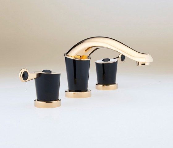 Bagatelle | Rim mounted 3-hole basin mixer by THG Paris | Wash basin taps