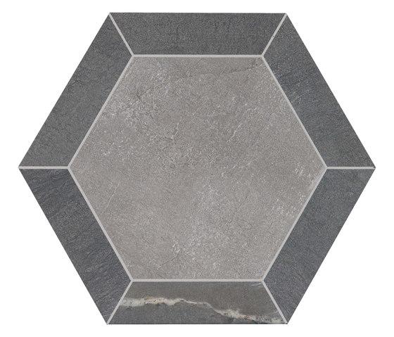 Stoneone   Silver Esagono de Marca Corona   Baldosas de cerámica