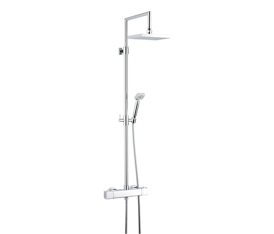 Beluga | Wall mounted thermostatic shower mixer by THG Paris | Shower controls