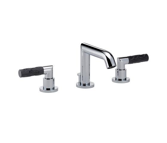Bambou | Rim mounted 3-hole basin mixer by THG Paris | Wash basin taps