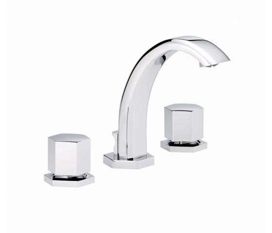 Beverley | Rim mounted 3-hole basin mixer by THG Paris | Wash basin taps