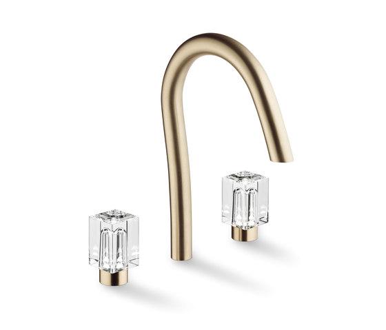 Beyond Crystal   Rim mounted 3-hole basin mixer by THG Paris   Wash basin taps