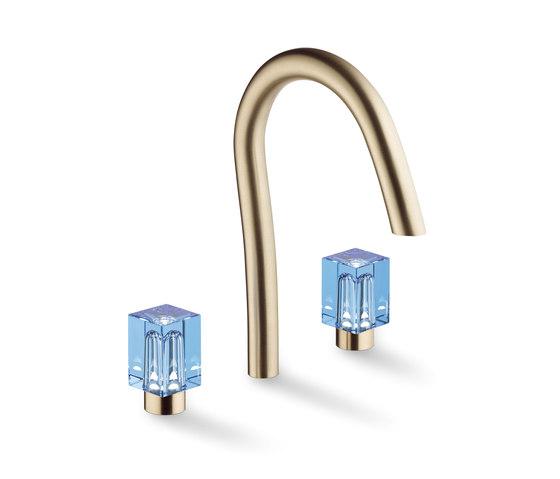 Beyond Crystal   Rim mounted 3-hole basin mixer de THG Paris   Grifería para lavabos