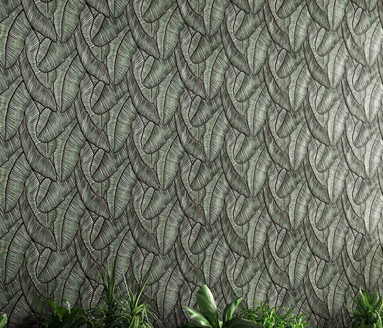 Tropical Leaf by Lincrusta | Drapery fabrics