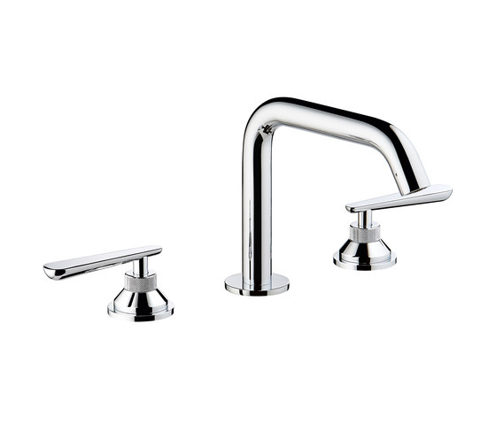 Dean | Rim mounted 3-hole basin mixer by THG Paris | Wash basin taps