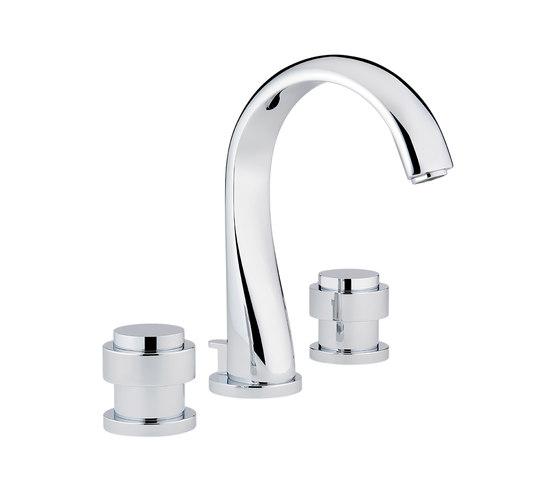 Diplomate   Rim mounted 3-hole basin mixer by THG Paris   Wash basin taps