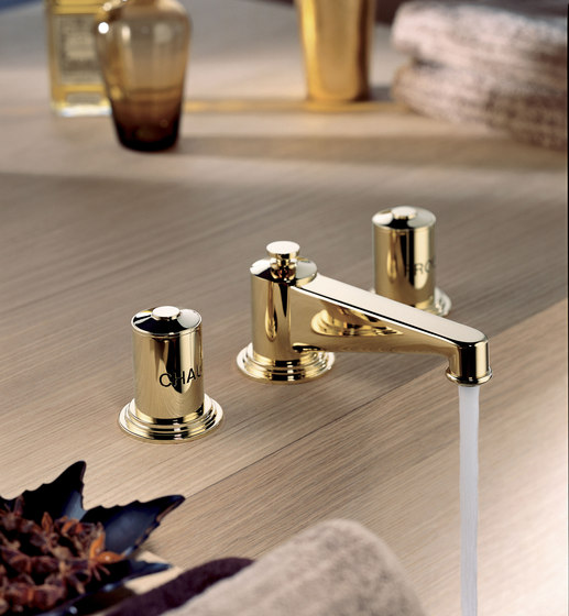 Faubourg | Rim mounted 3-hole basin mixer by THG Paris | Wash basin taps