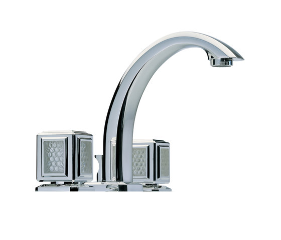 Metropolis | Rim mounted 3-hole basin mixer by THG Paris | Wash basin taps