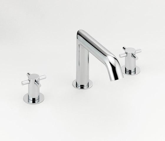 Nano   Rim mounted 3-hole basin mixer by THG Paris   Wash basin taps