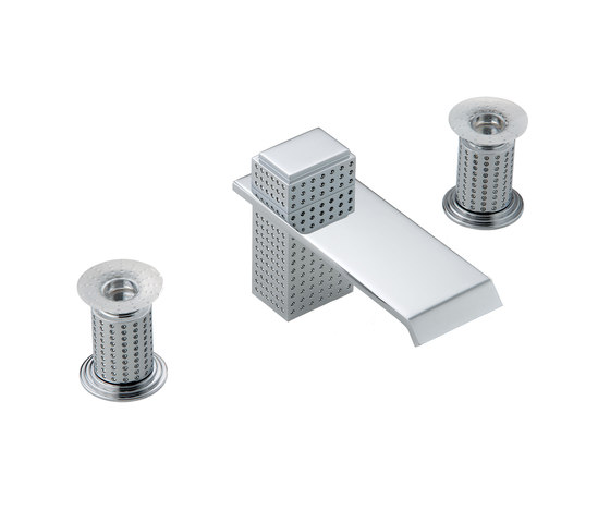 Perle | Rim mounted 3-hole basin mixer by THG Paris | Wash basin taps
