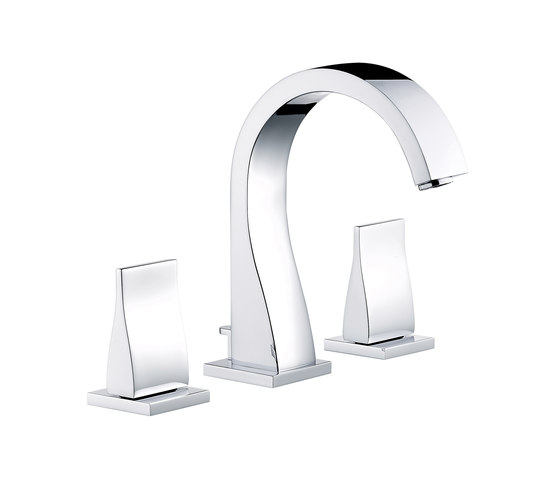 Pure | Rim mounted 3-hole basin mixer by THG Paris | Wash basin taps