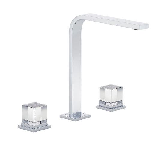 Soho | Rim mounted 3-hole basin mixer by THG Paris | Wash basin taps